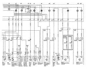 Mercedes-Benz 300SE - wiring diagram - instrumentation (part 3)