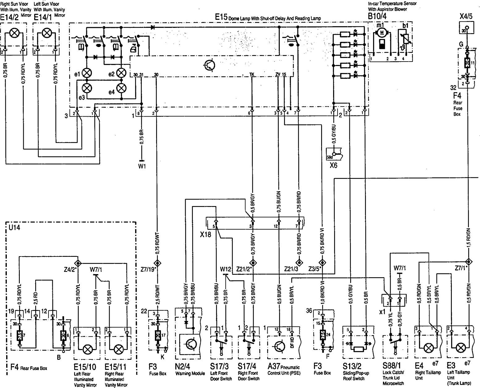 mercedes-benz 600sl  1993  - wiring diagrams