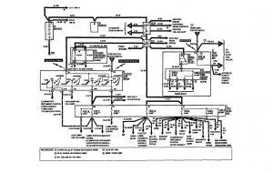 Mercedes-Benz 300SE - w iring diagram - power distribution (part 1)