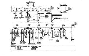 Mercedes-Benz 300SE - w iring diagram - power distribution (part 2)