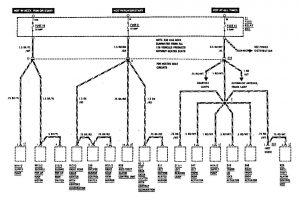 Mercedes-Benz 300SE - wiring diagram - power distribution