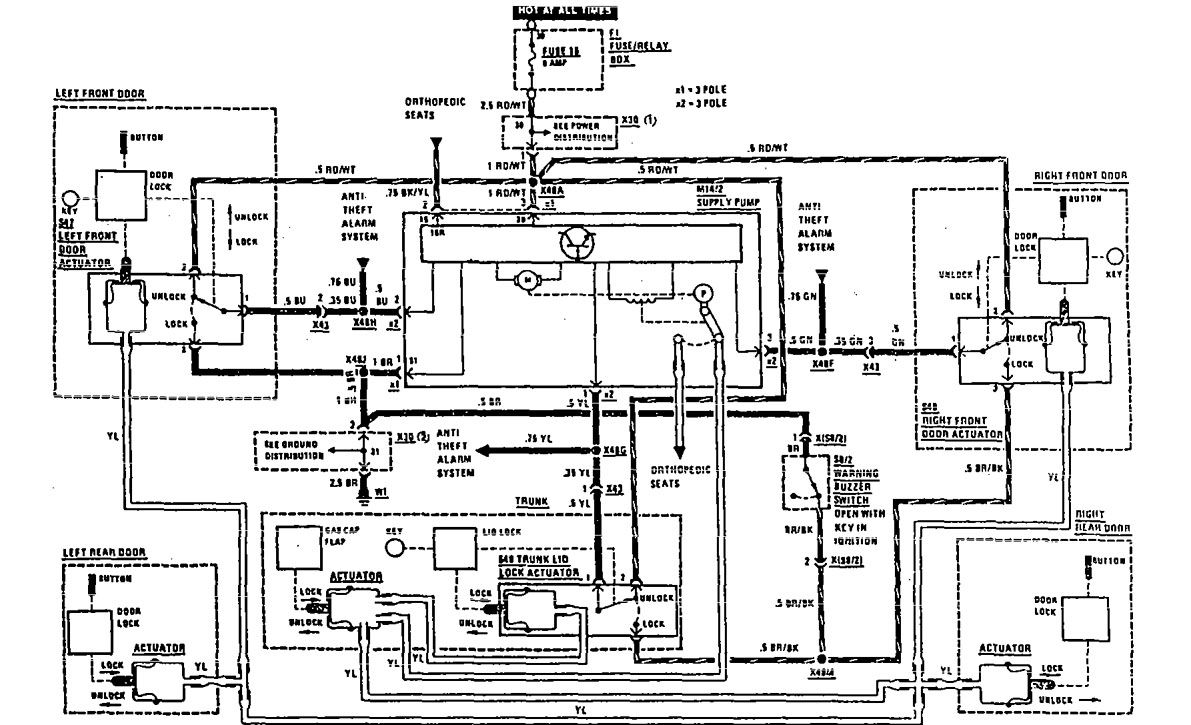 1990 mercedes 300se wiring diagram