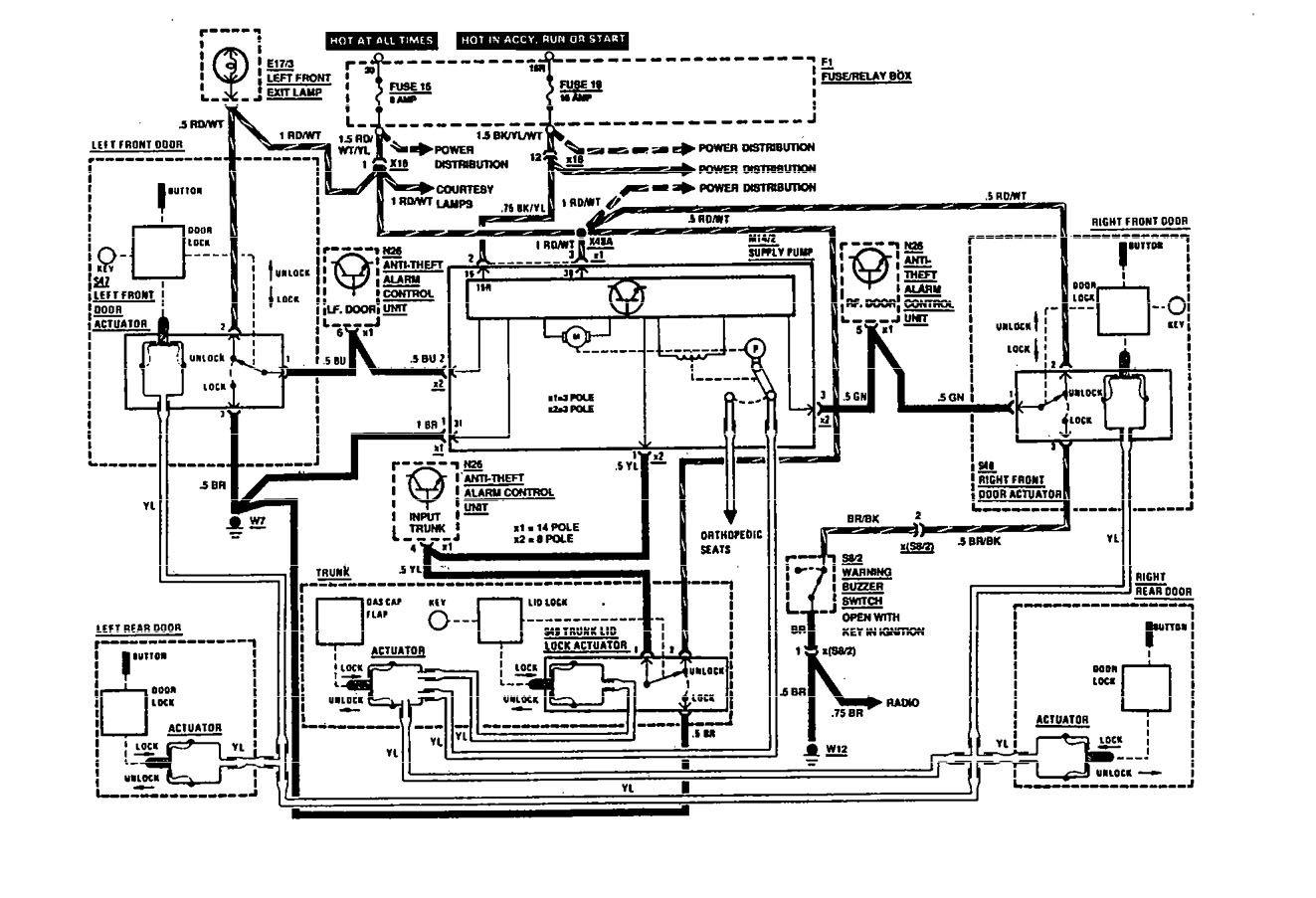 Mercedes Benz 560sec 1991 Wiring Diagrams Power Locks X10 Diagram