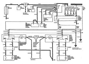 Mercedes-Benz 300SE - wiring diagram - power windows (part 1)