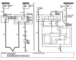 Mercedes-Benz 300SE - wiring diagram - rear window defogger