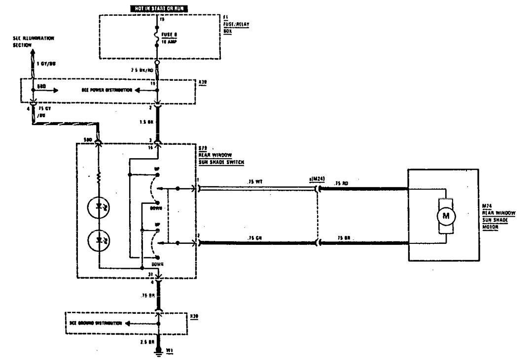 Mercedes Benz 560sel 1990 1991 Wiring Diagrams Rear Window Fuse Box Diagram Sunshade