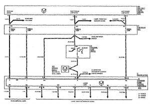 Mercedes-Benz 300SE - wiring diagram - security/anti-theft (part 2)