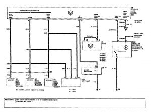 Mercedes-Benz 300SE - wiring diagram - security/anti-theft (part 3)