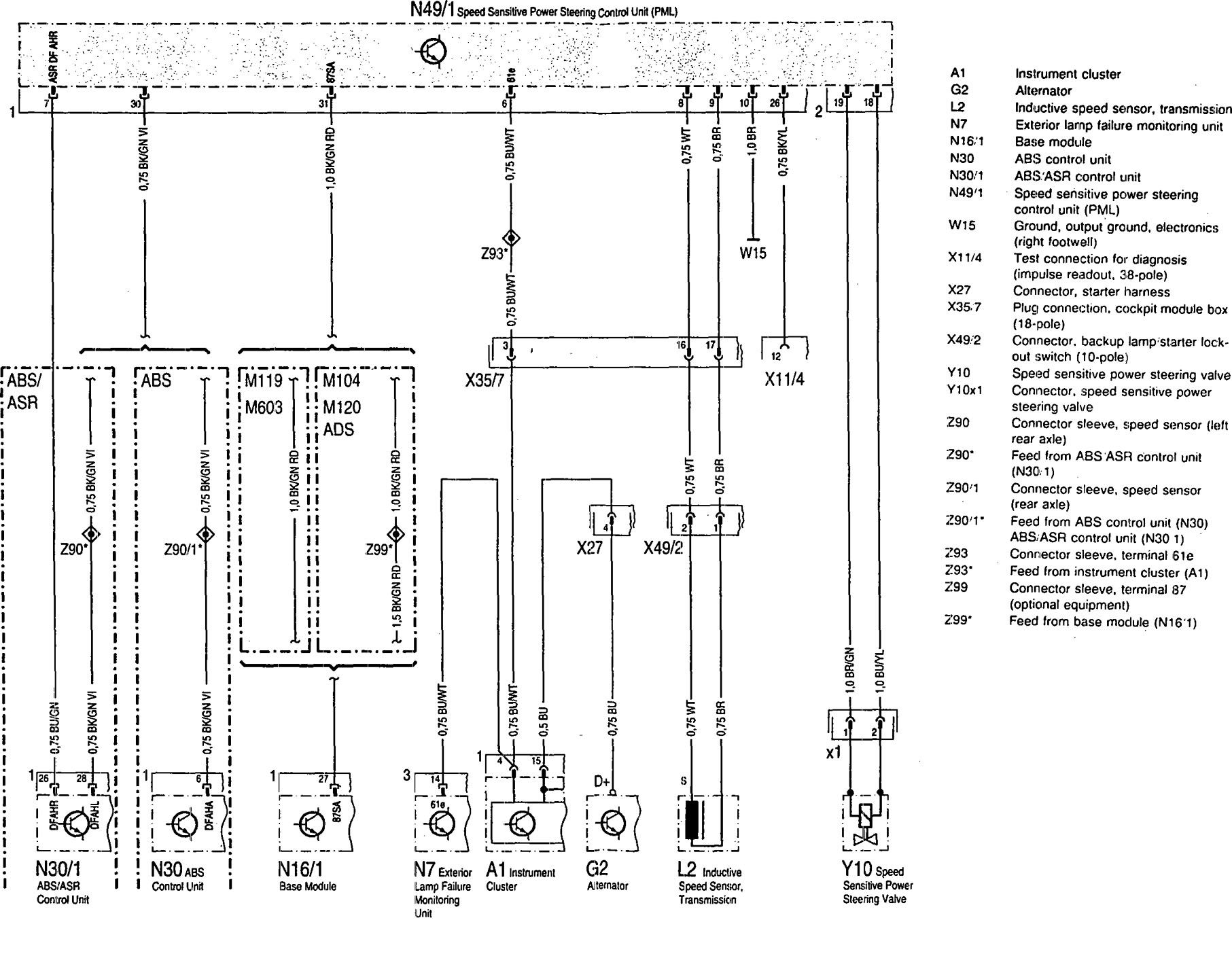 Mercedes Benz 500sec 1993 Wiring Diagrams Steering Controls Citroen C8 Abs Diagram 300se Stering