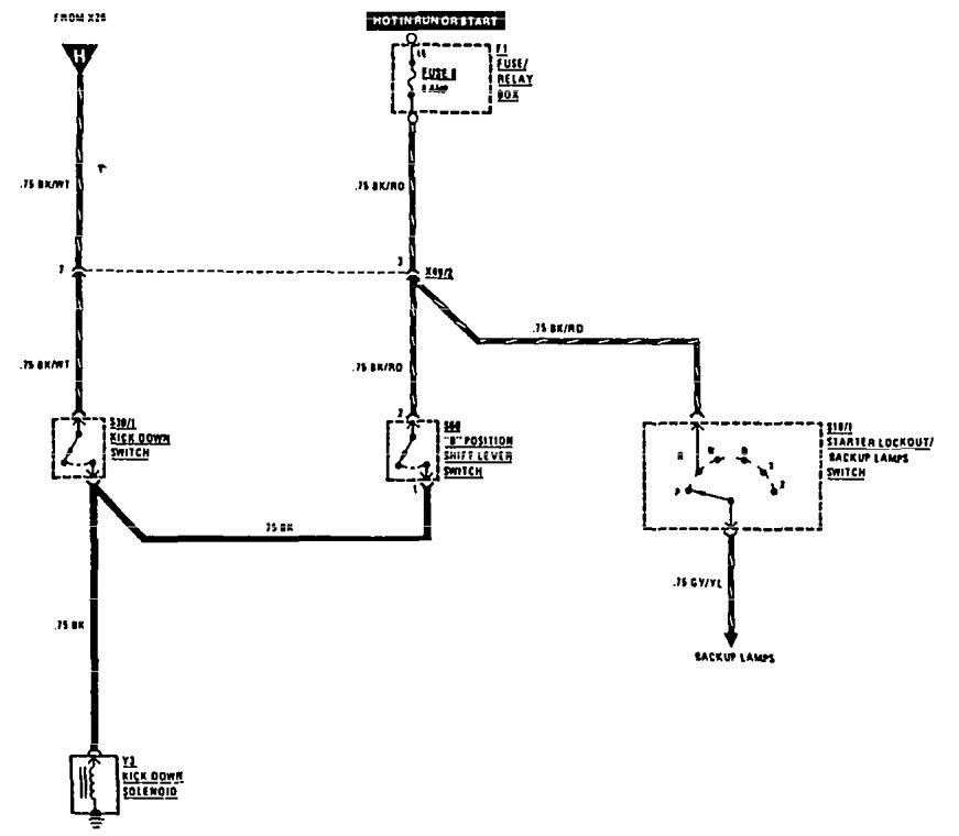 mercedesbenz 560sel 1990  wiring diagrams  transmission