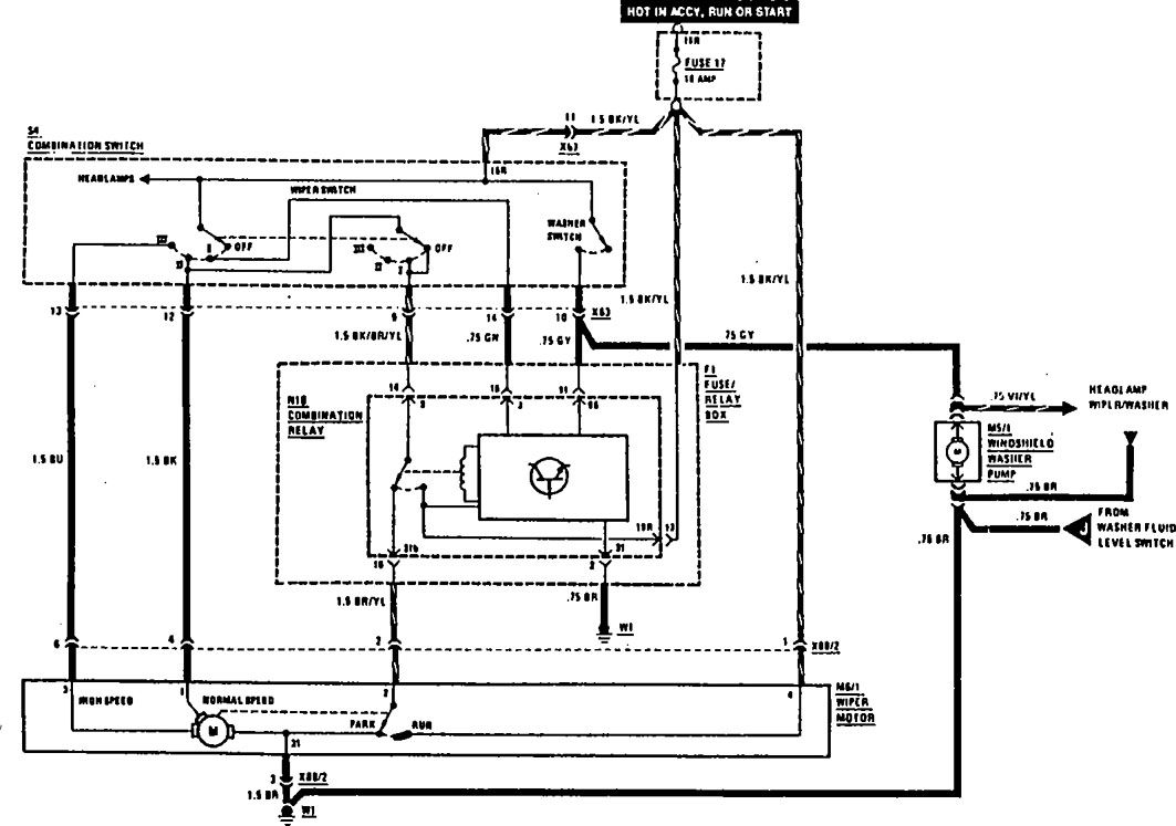 Mercedes Benz Se Wiring Diagram Wiper Washer on Volvo 960 Wiring Diagram 1992