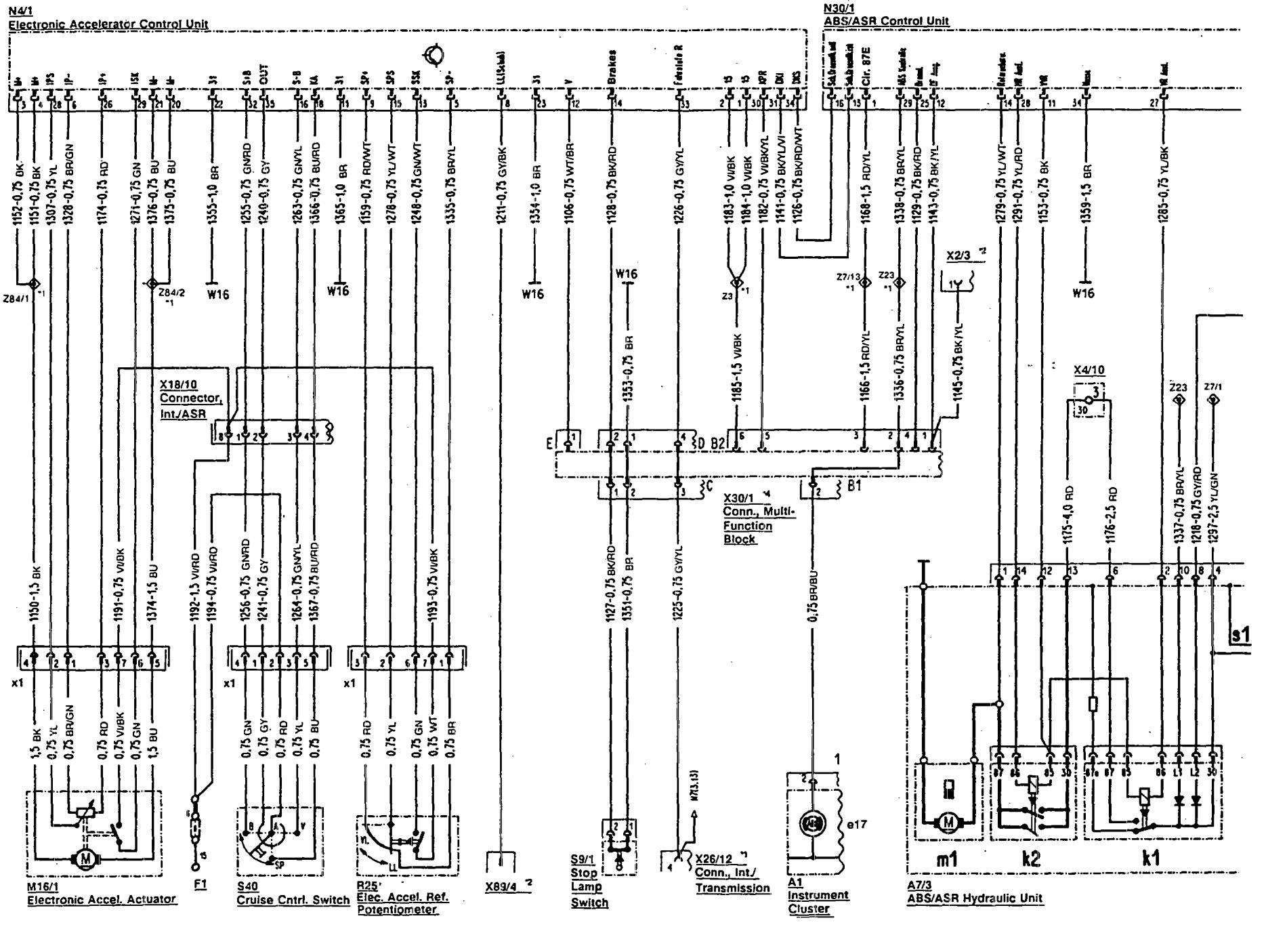 mercedes benz 500sl 1990 1992 wiring diagrams abs carknowledge rh carknowledge info 1995 mercedes sl500 wiring diagram mercedes benz sl500 wiring diagram