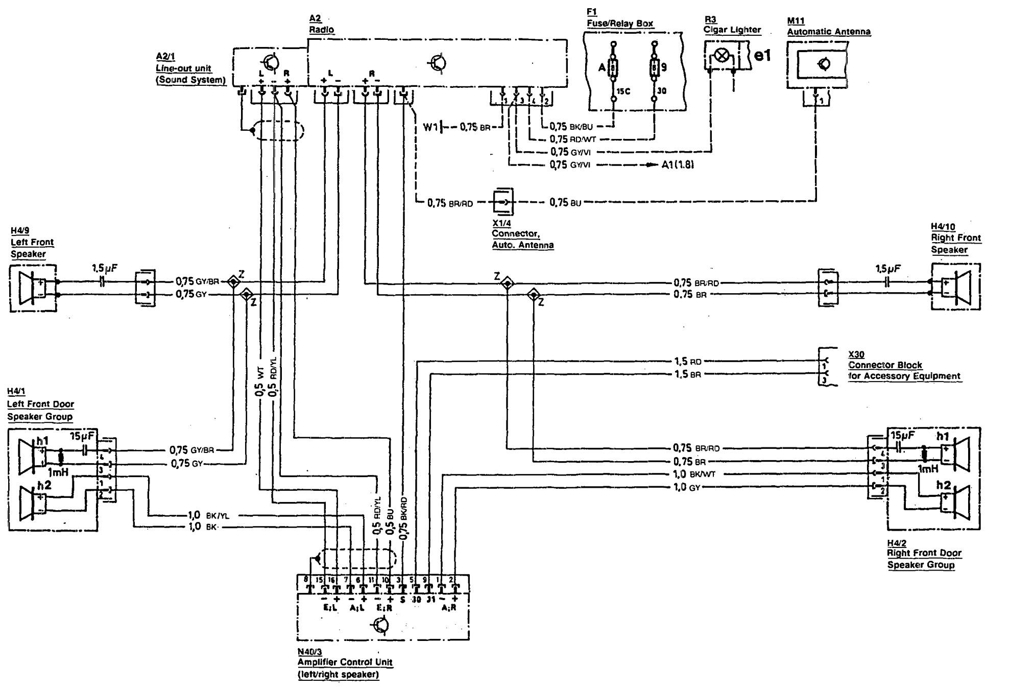 Mercedes-Benz 300SL (1990 - 1993) - wiring diagrams - audio ...