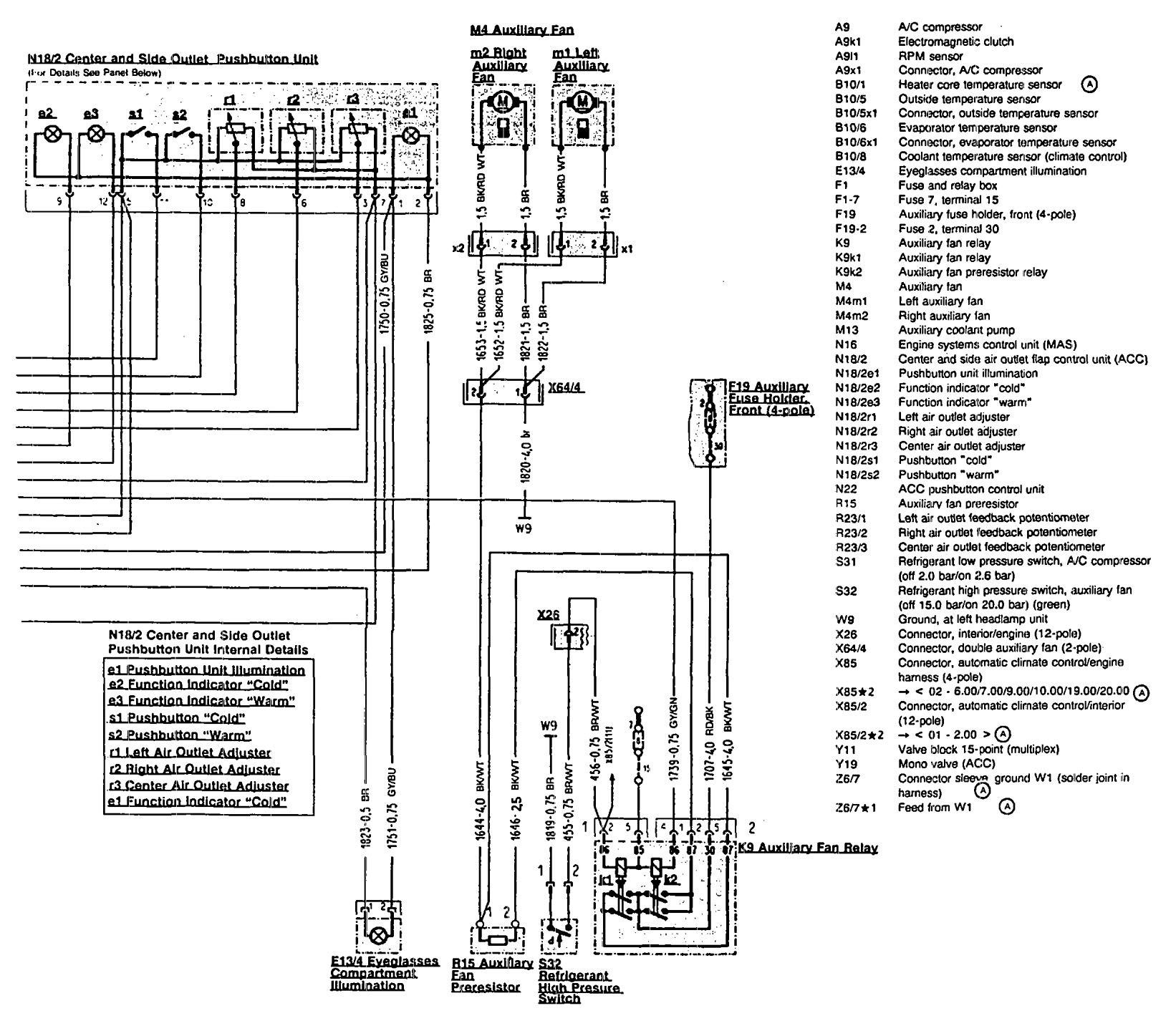 mercedes-benz 300sl  1990 - 1993  - wiring diagrams