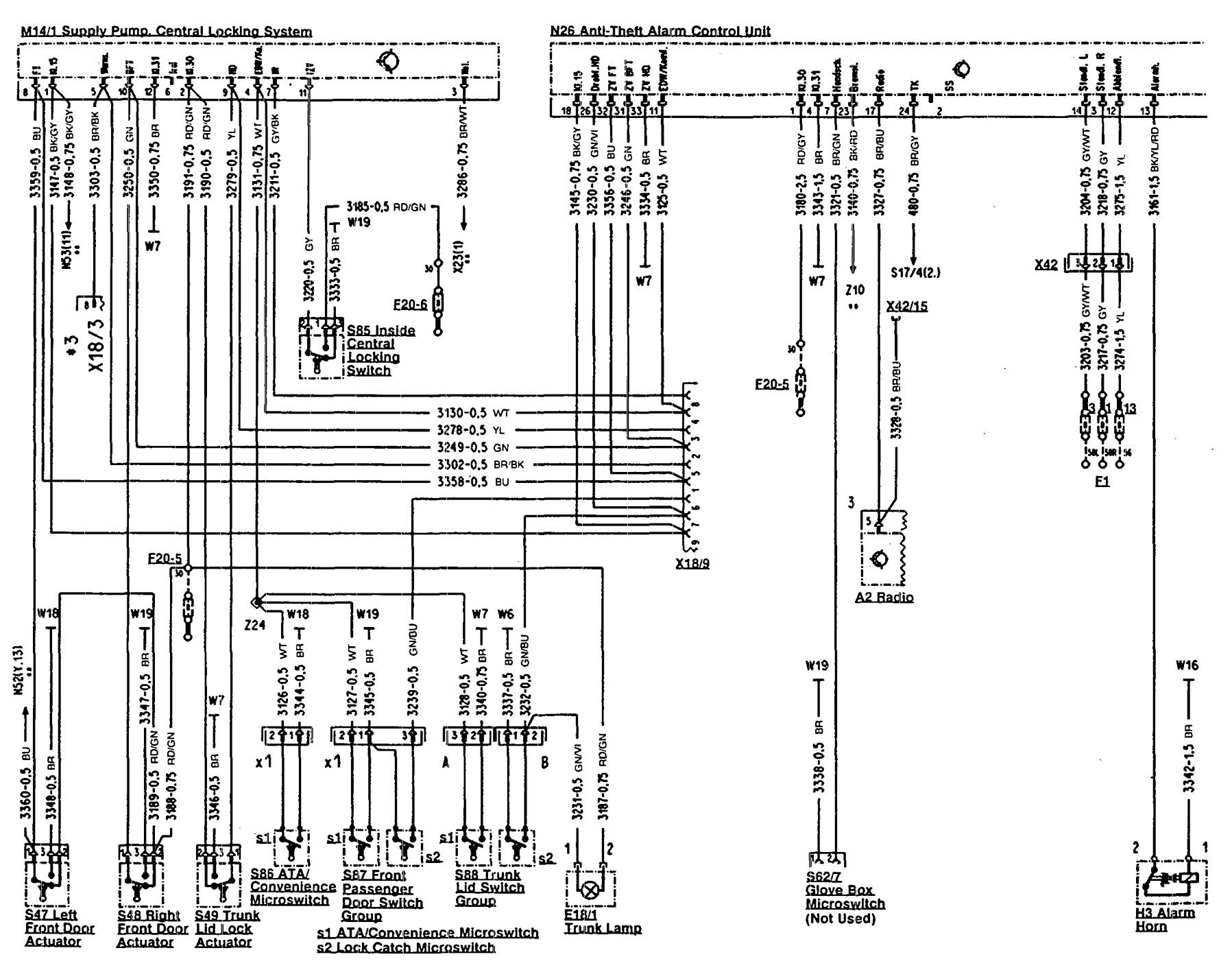 mercedes benz 500sl fuse box diagram