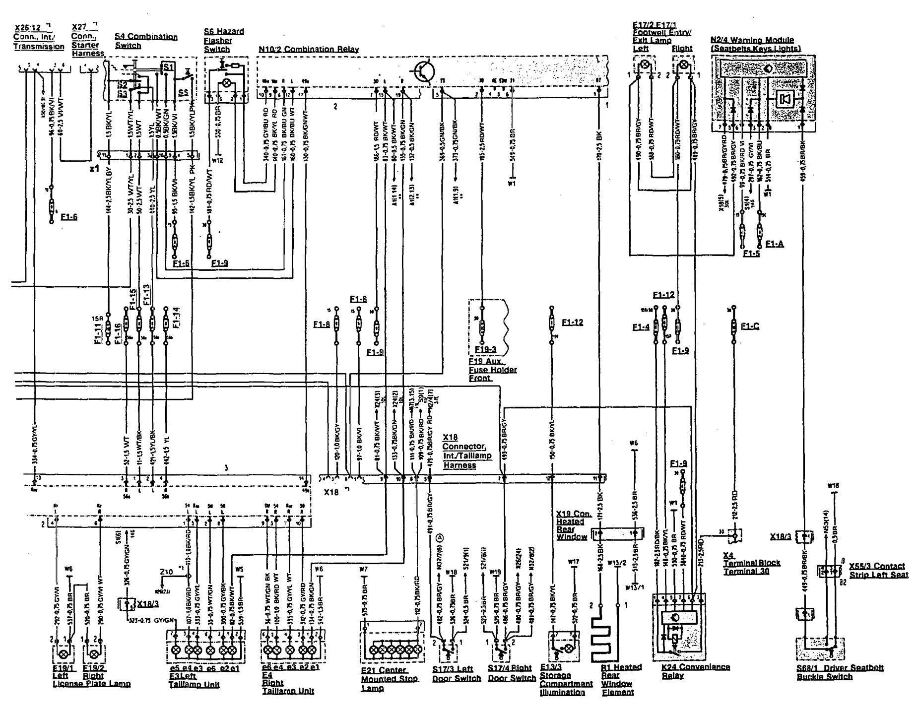 Mercedes Benz 300sl 1990 1992 Wiring Diagrams Side