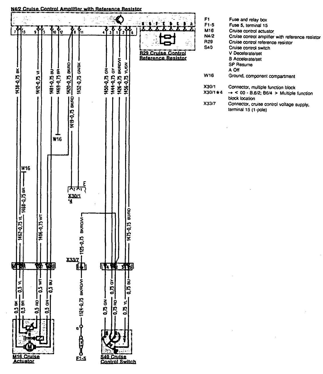 Mercedes-Benz 300SL (1990 - 1993) - wiring diagrams - speed controls ...