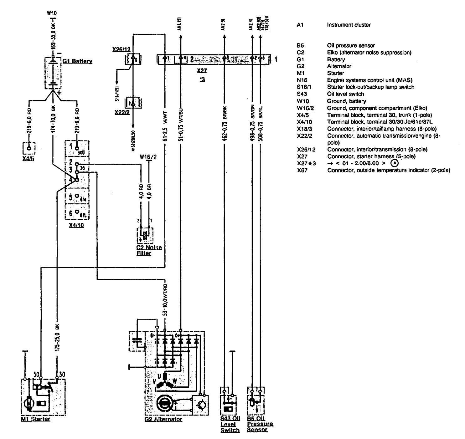 1990 mercury grand marquis wiring diagram mercedes benz 500sl  1990 1993  wiring diagrams starting  mercedes benz 500sl  1990 1993