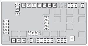 Toyota 4Runner - wiring diagram - fuse box diagram - engine compartment