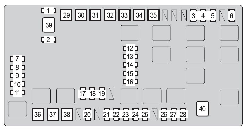 Toyota 4runner  2009   U2013 Fuse Box Diagram
