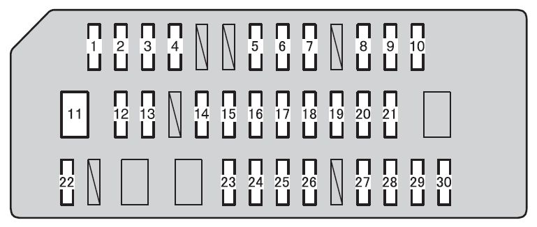 toyota 4runner  2010  u2013 2012   u2013 fuse box diagram