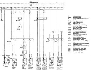 Mercedes-Benz 300SD - wiring diagram - air bags (part 1)