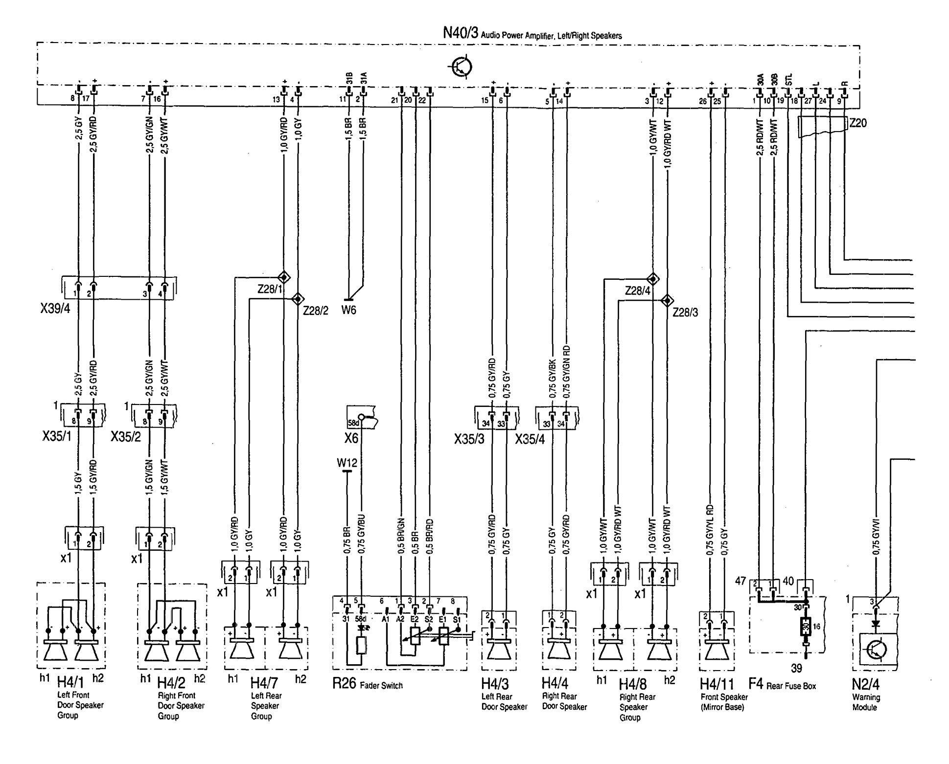 Mercedes benz speakers wiring diagram