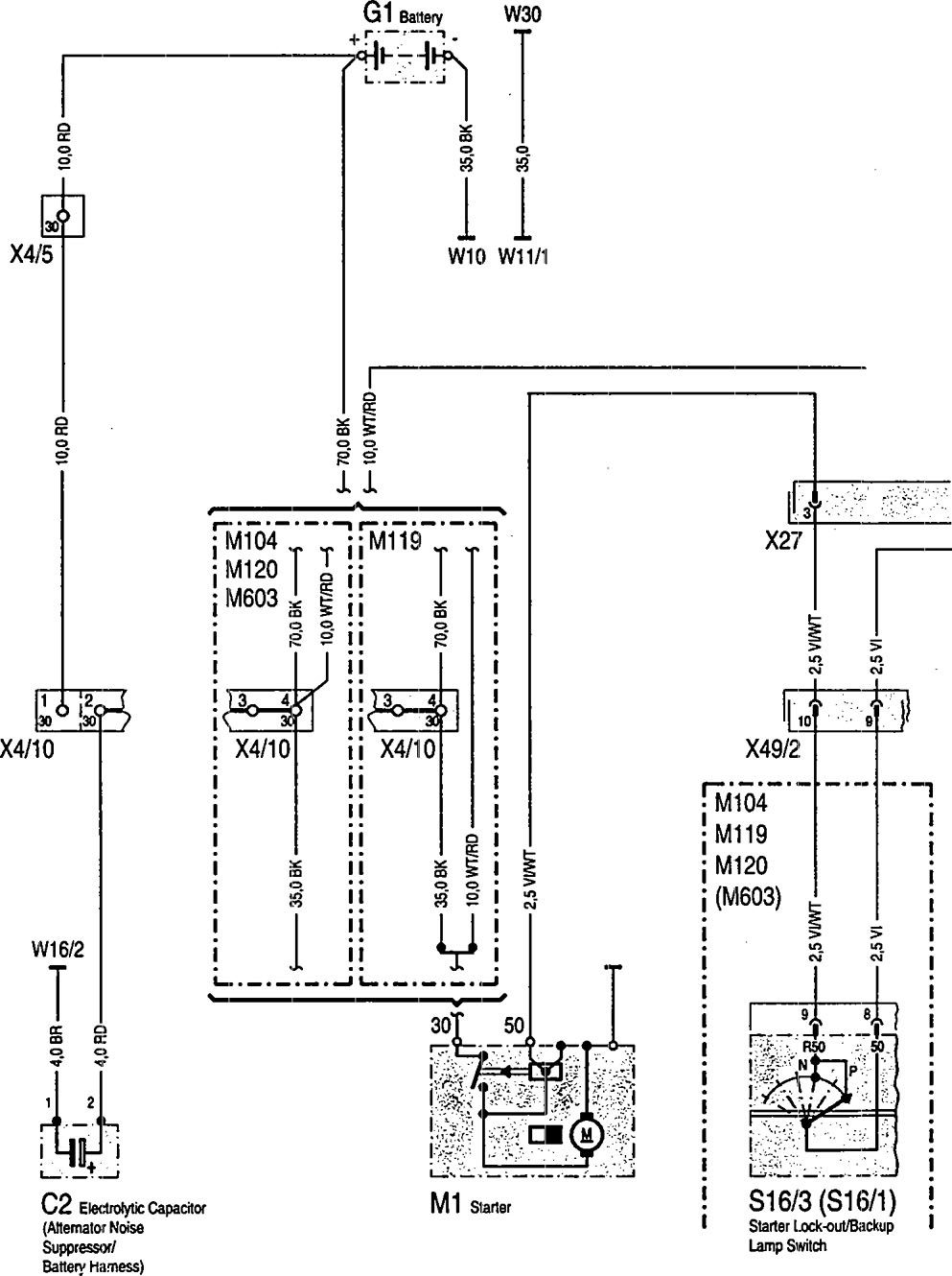mercedes-benz 300sd (1992 - 1993) - wiring diagrams - battery -  carknowledge.info  carknowledge.info