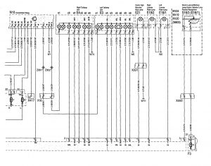 Mercedes-Benz 300SD - wiring diagram - exterior lighting (part 3)