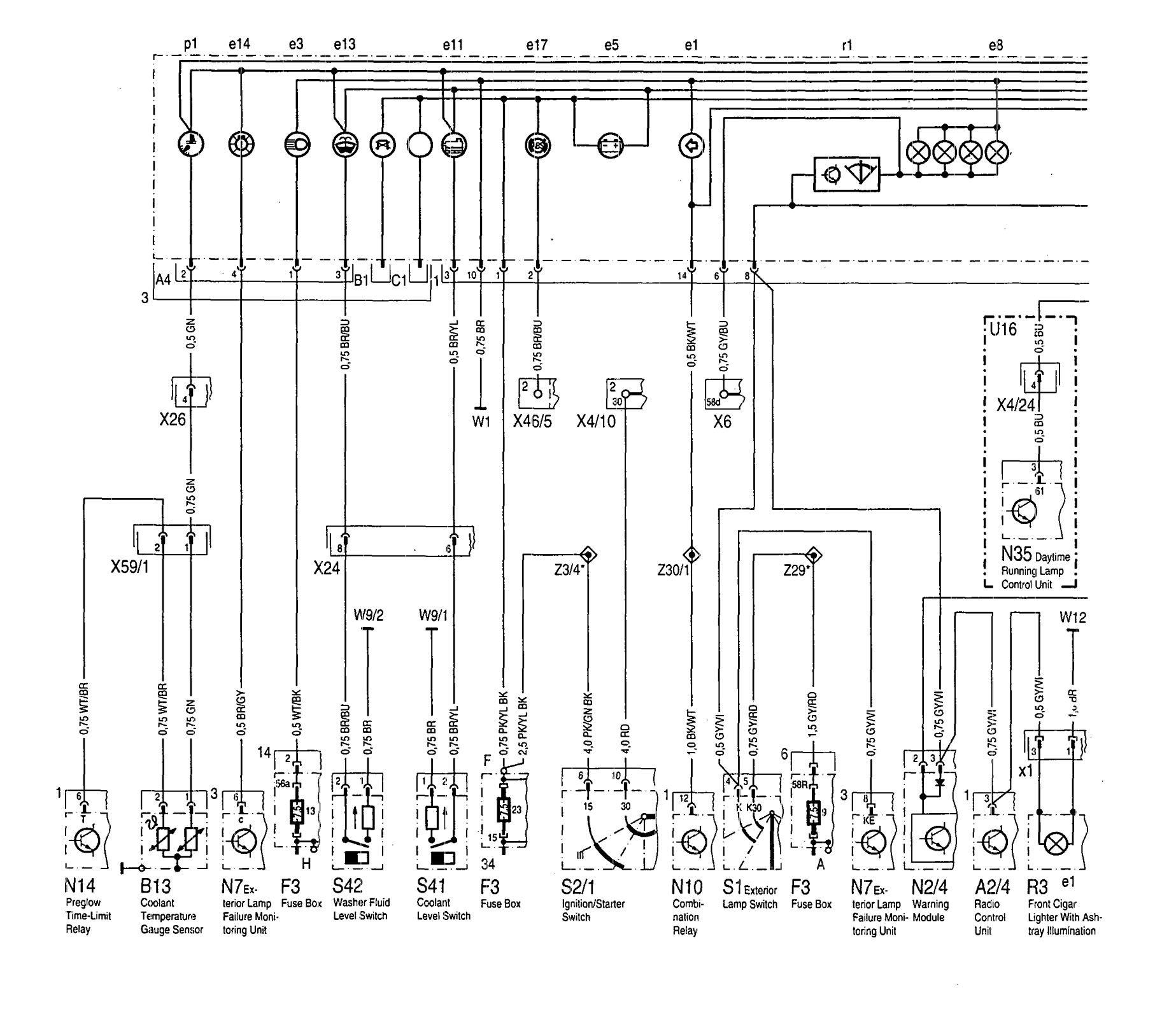 Mercedes Benz 300sd 1992 1993 Wiring Diagrams Saab 900 Diagram Instrumentation