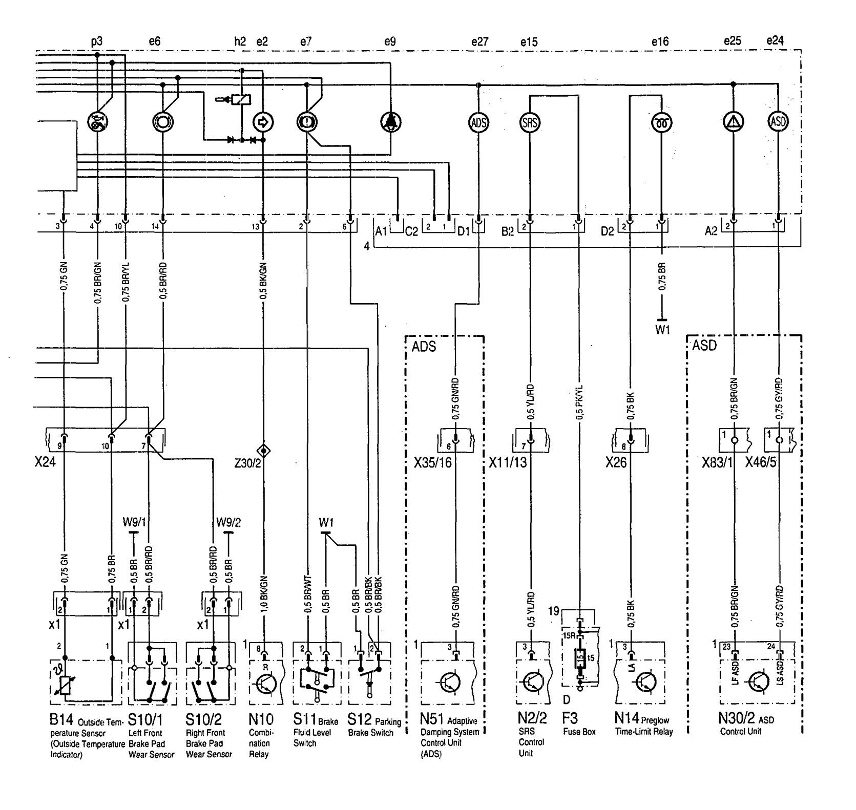mercedes-benz 300sd (1992 - 1993) - wiring diagrams - instrumentation -  carknowledge.info  carknowledge.info