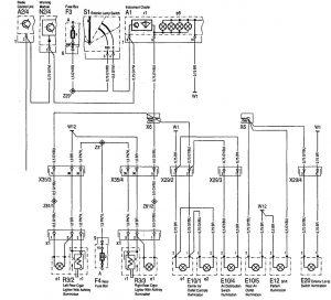 Mercedes-Benz 300SD - wiring diagram - interior lighting (part 2)