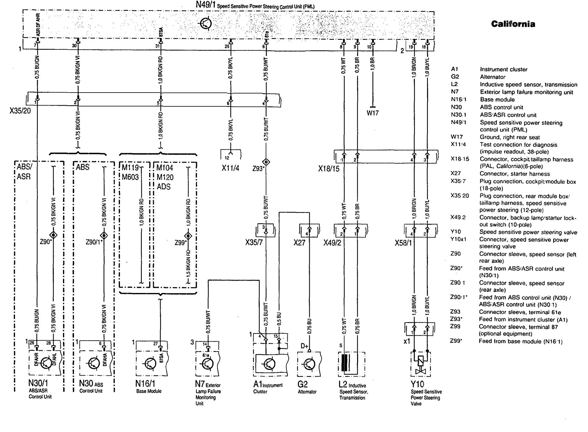 Mercedes Benz 300sd 1992 1993 Wiring Diagrams Steering Audi S4 Diagram Controls