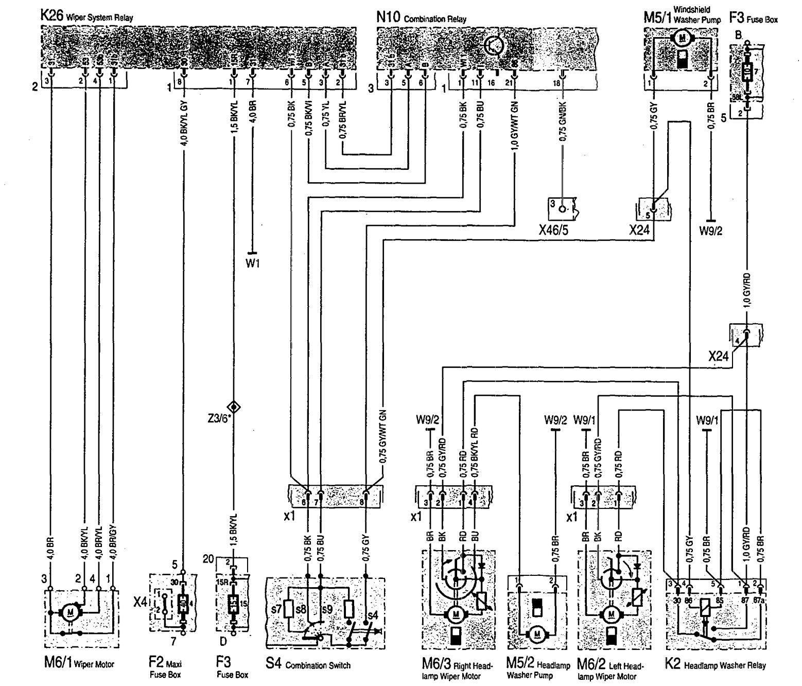 WRG-9829] 1983 Mercedes Wiring Diagrams on