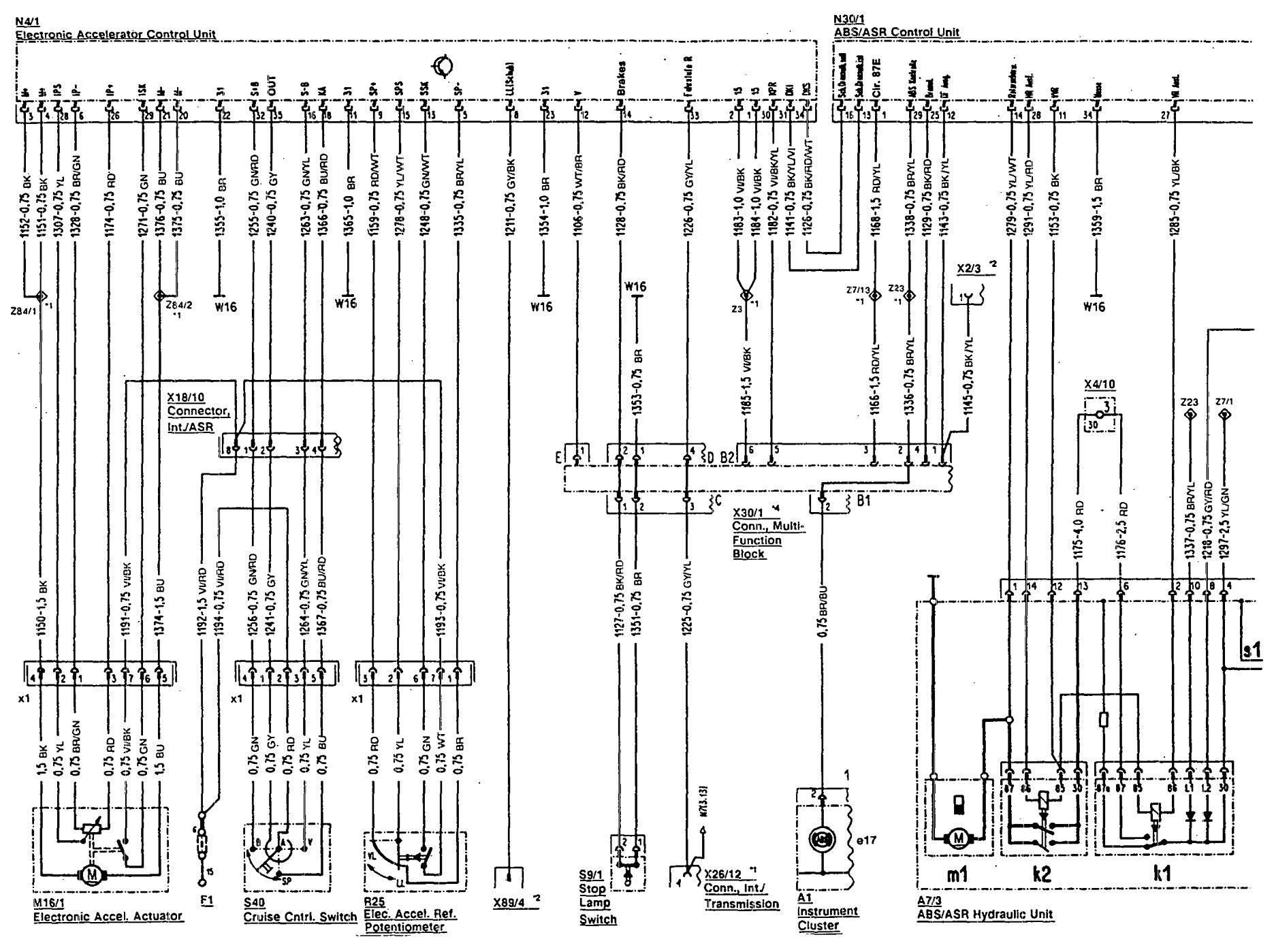 Mercedes-Benz 300SL (1993) - wiring diagrams - brake controls ...
