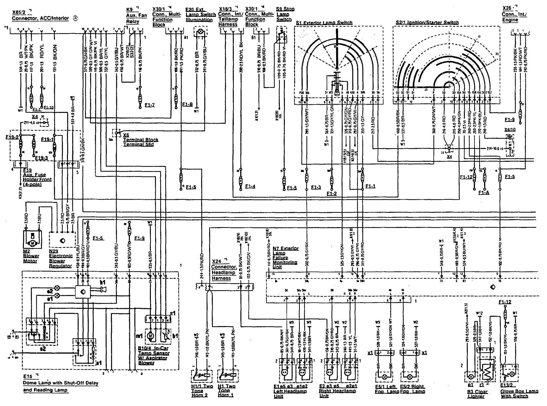 mercedes-benz 300sl  1993  - wiring diagrams