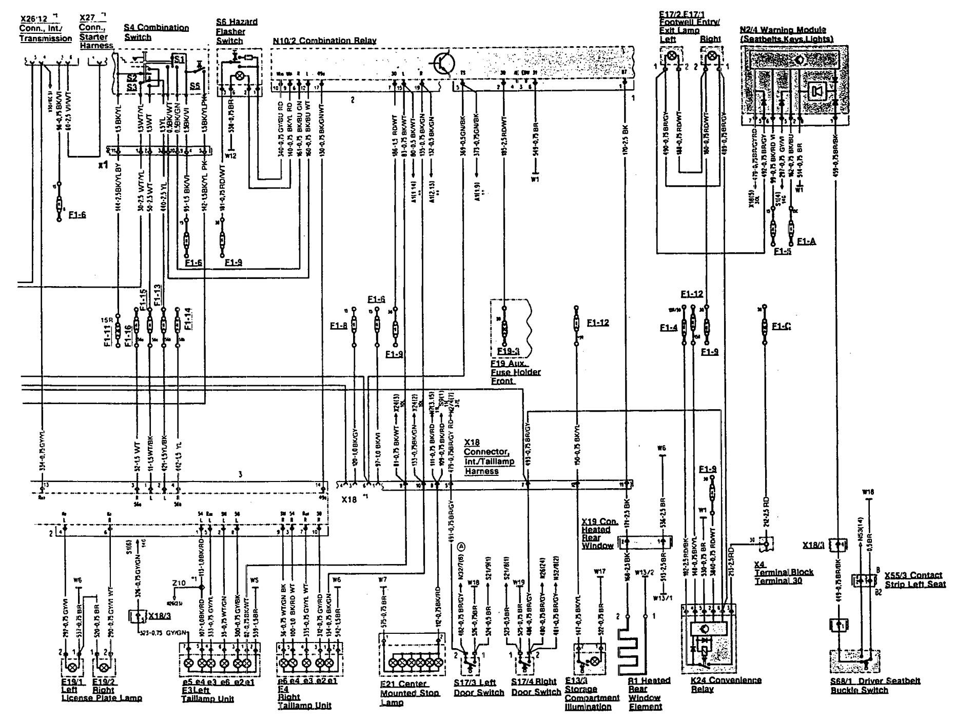 mercedes-benz 500sl  1993  - wiring diagrams
