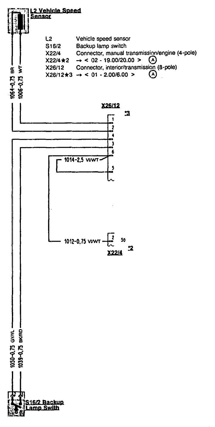 Mercedes Benz 300sl 1990 1993 Wiring Diagrams Transmission Diagram For Vehicle Speed Sensor Controls
