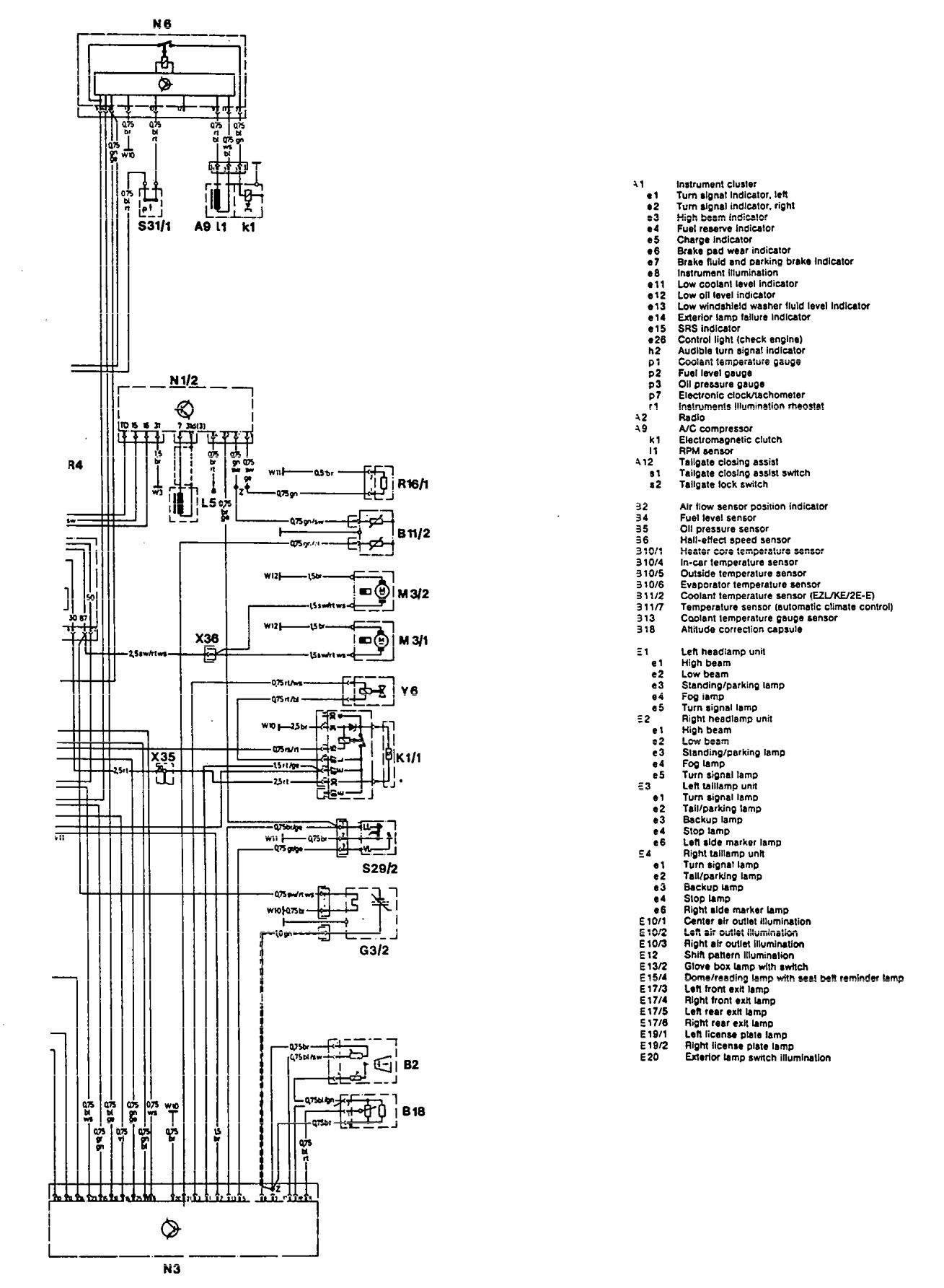 Mercedes Benz 300te 1992 1993 Wiring Diagrams Audible Ignition Switch Plug Diagram 1975 To 1995 Warning System