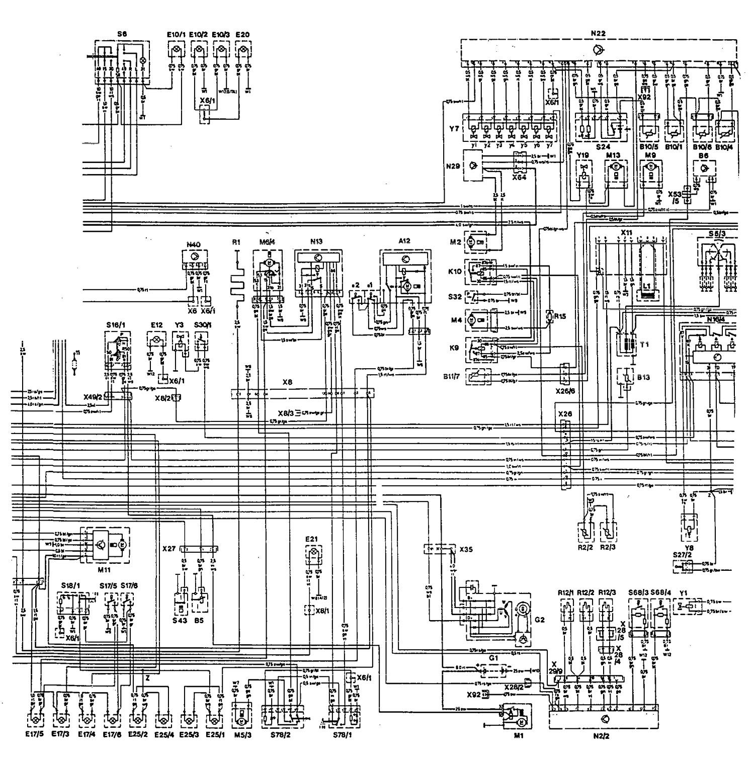 Mercedes Benz 300te 1992 1993 Wiring Diagrams Charging 220 System