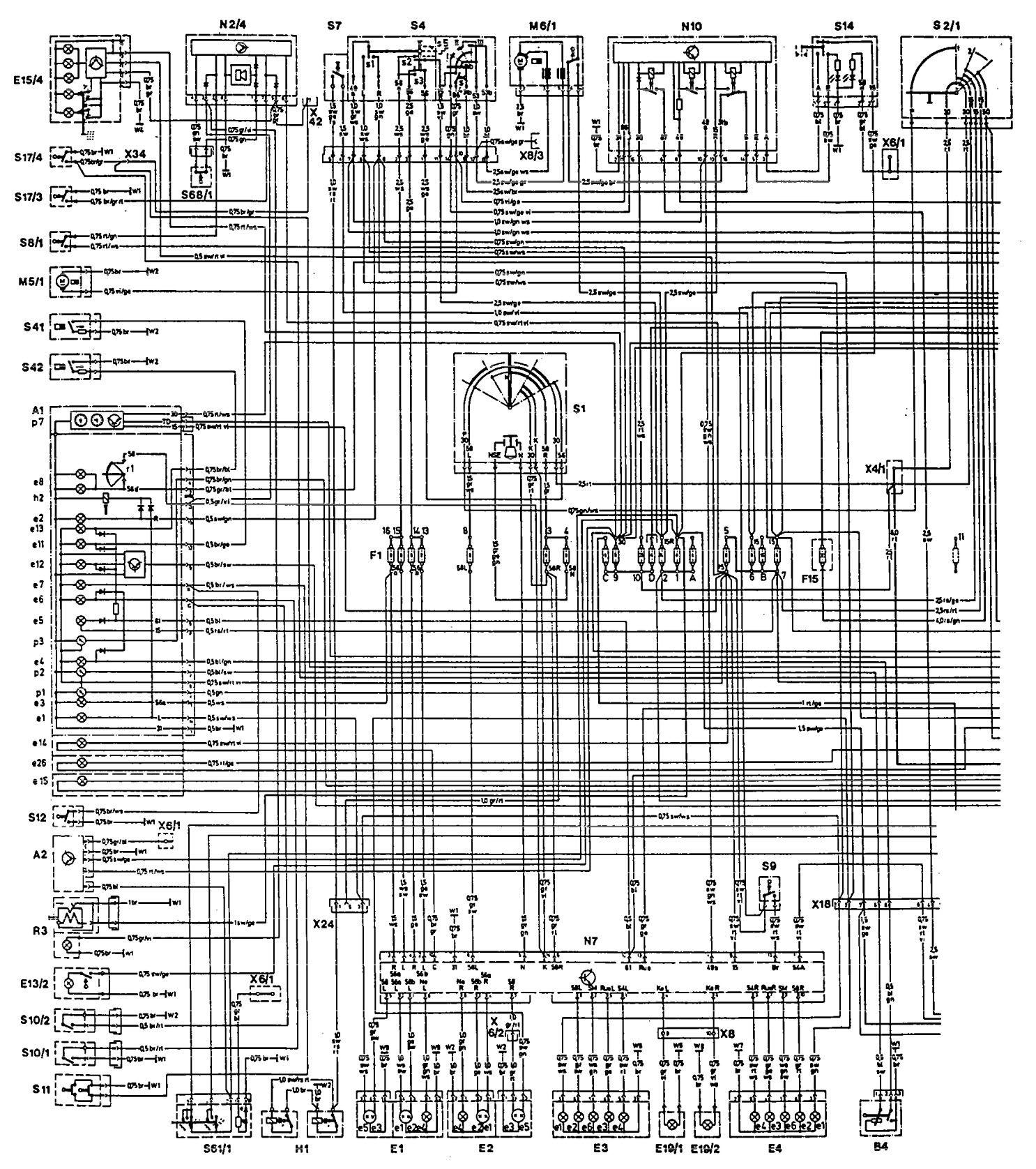 Mercedes Benz 300te 1992 1993 Wiring Diagrams Cooling Fans Fan Diagram Part 1