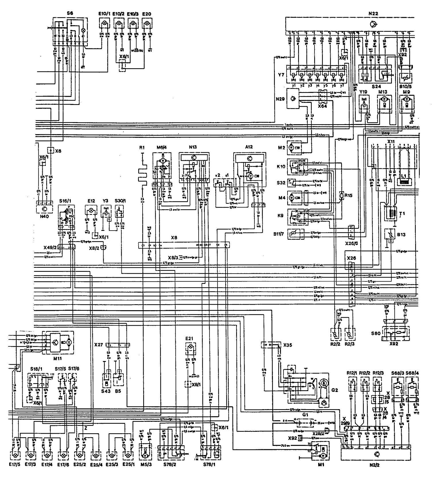 Mercedes Benz 300te 1992 1993 Wiring Diagrams Cooling Fans Fan Diagram Part 2