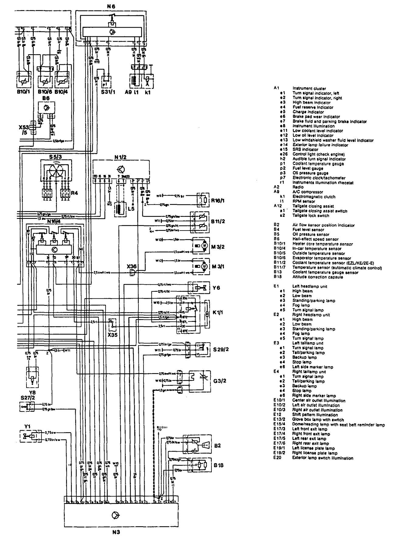 mercedes-benz 300te  1992  - wiring diagrams - ignition