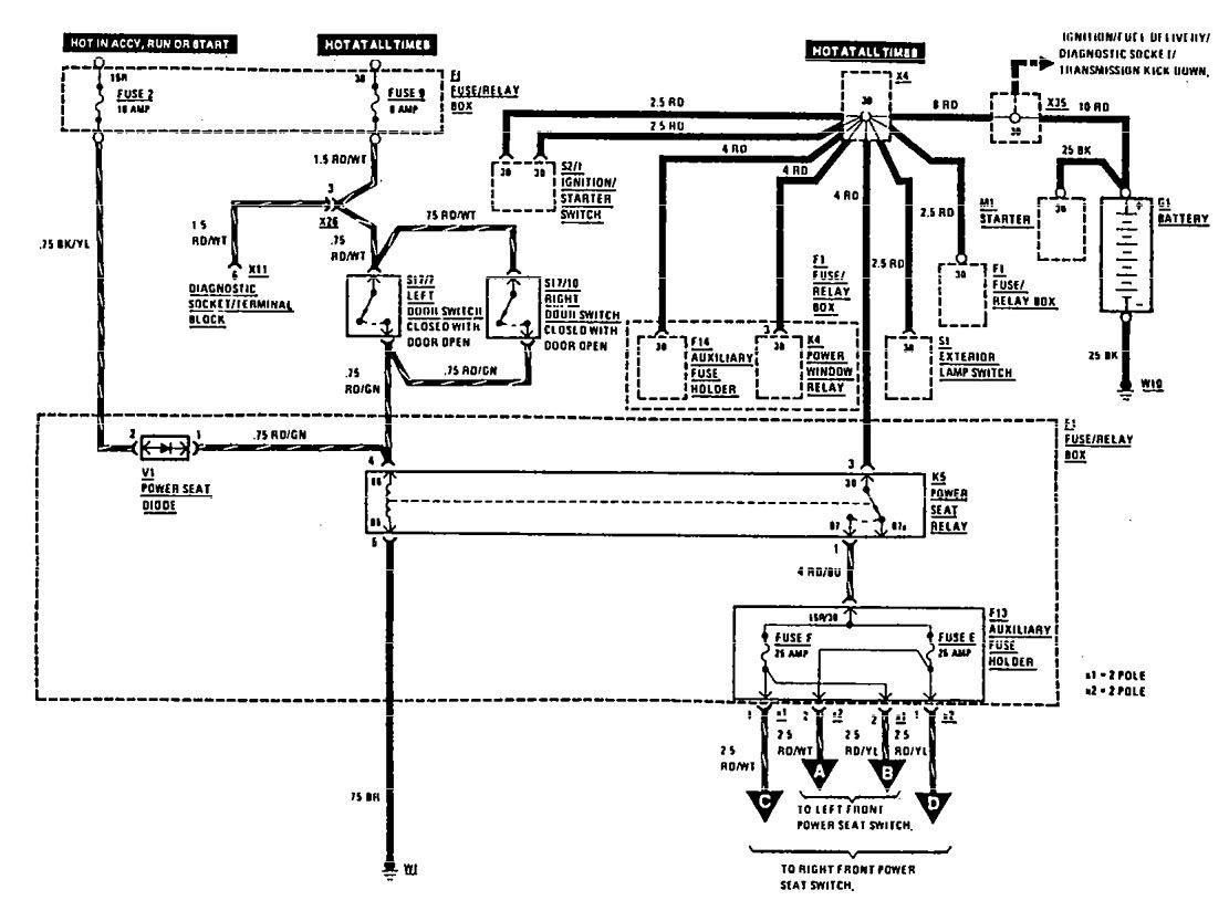 Mercedes 450sl Power Switch Wiring Diagrams 1975 | Manual e-books