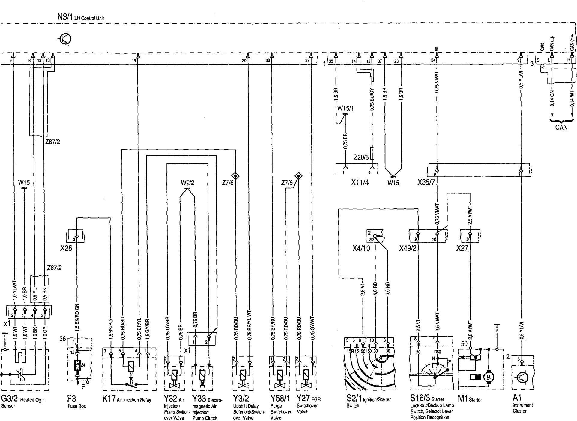 Mercedes Benz 500sel 1992 1993 Wiring Diagrams Fuel Controls Carknowledge Info