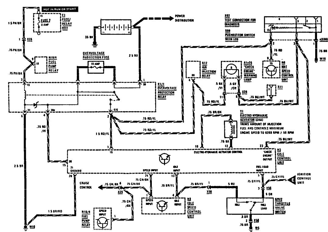 mercedes-benz 420sel  1991  - wiring diagrams