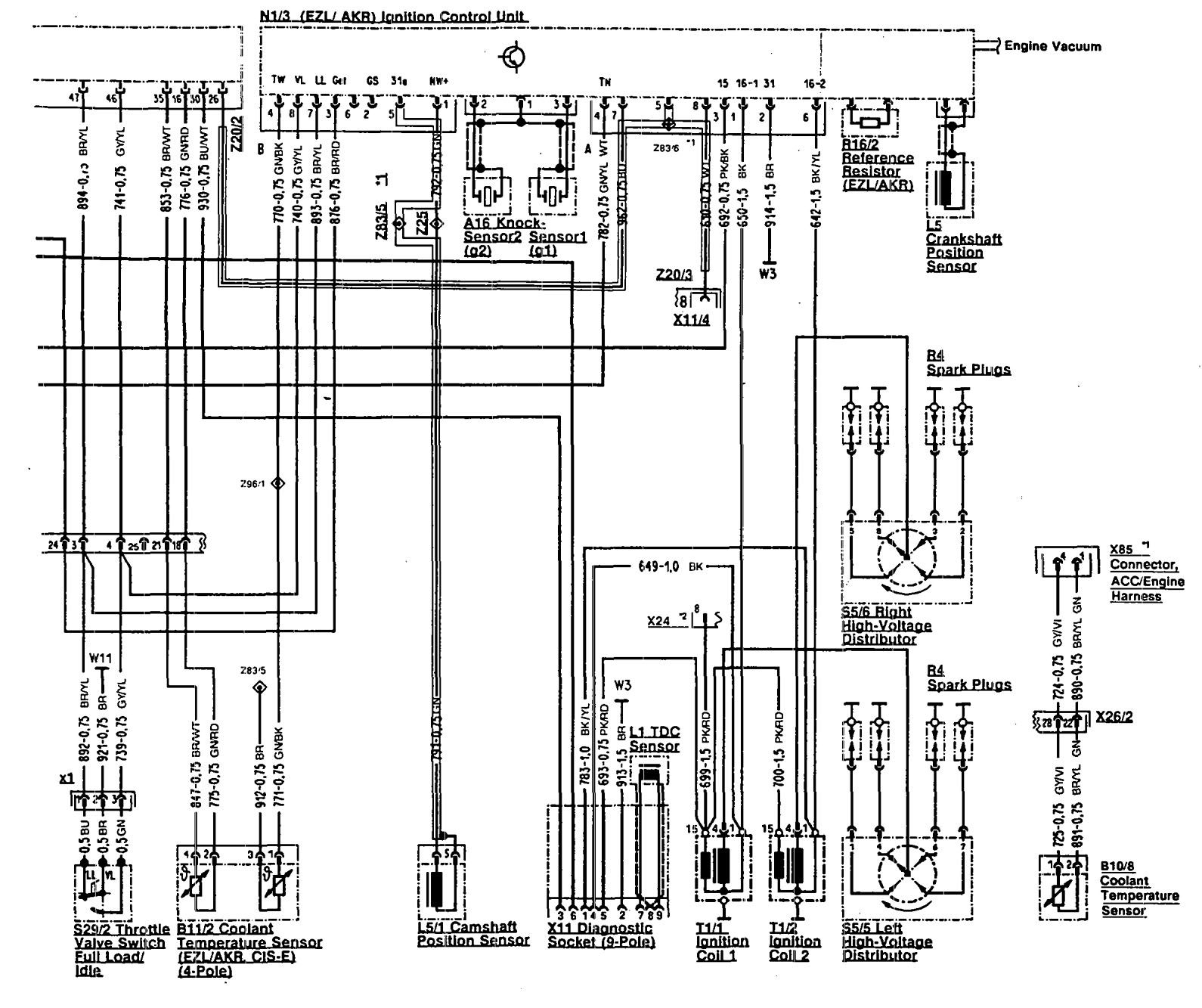 Mercedes Benz 500sl 1990 1993 Wiring Diagrams Fuel Controls Carknowledge Info
