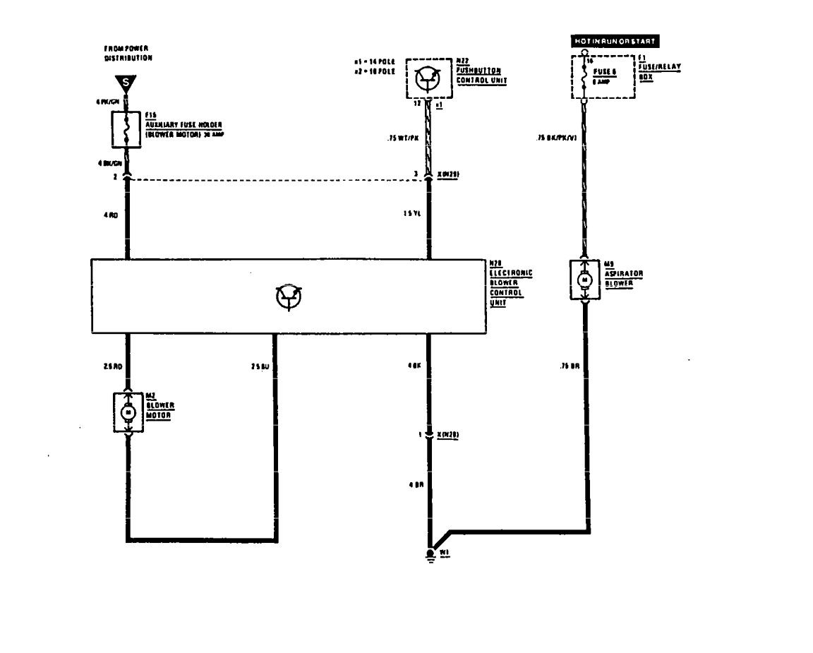 Fuse Wiring Diagram Mercedes 560sec Library Of Diagrams 1988 Mercy 560sel Blower Motor Outside Box Benz 1990 1991 Hvac Controls Rh Carknowledge Info 2006 Kenworth Panel