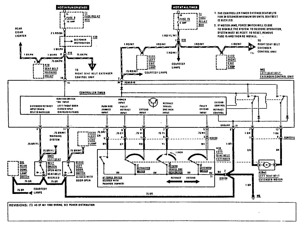 Mercedes Benz 560sec 1990 Wiring Diagrams Seat Belts Carknowledge Info