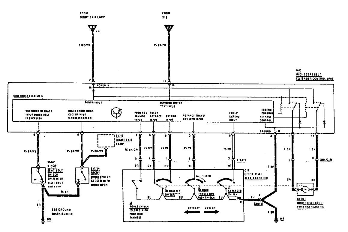 mercedes-benz 560sec  1990  - wiring diagrams